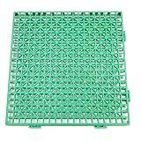 Lot de 12 caillebotis PVC vert 30x30cm piscine douche camping Facile a monter