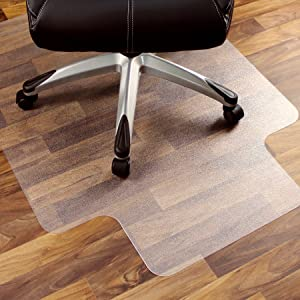 """Marvelux 48"""" x 51"""" Heavy Duty Polycarbonate (PC) Lipped Chair Mat for Hard Floors 