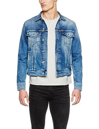 Pepe Jeans Herren Pinner Jacke, Blau (Denim), Small