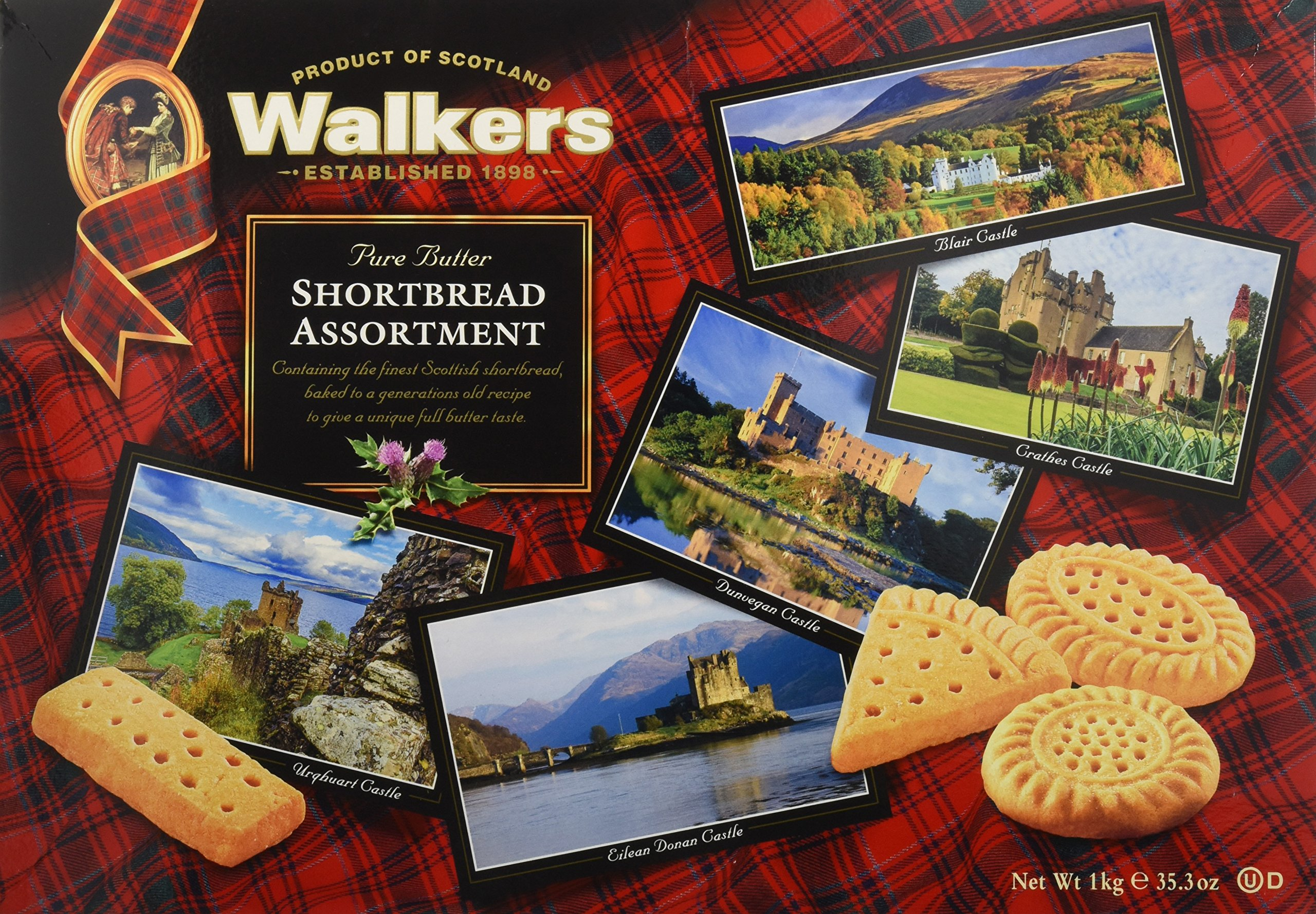 Walkers Shortbread Assorted Shortbread Cookies, 35.3 Ounce, Traditional and Simple Pure Butter Shortbread Cookies from the Scottish Highlands, Quality Ingredients, Free from Artificial Flavors