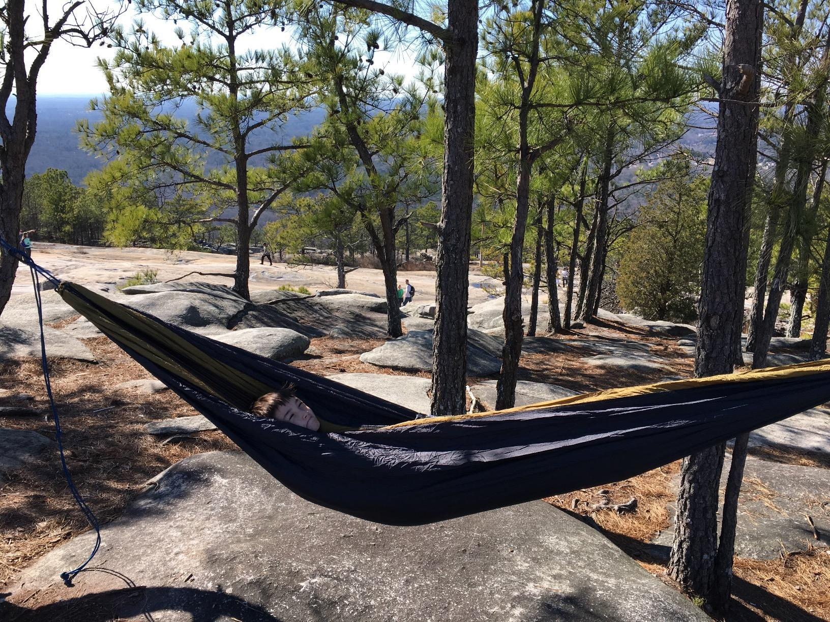 Winner Outfitters Double Camping Hammock-Setup was easy and it comfortably supported me