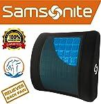 Samsonite SA5244 \ Almohada ergonómica de Apoyo Lumbar \ Ayuda a aliviar el Dolor de Espalda Baja, Soporte Lumbar con Gel...