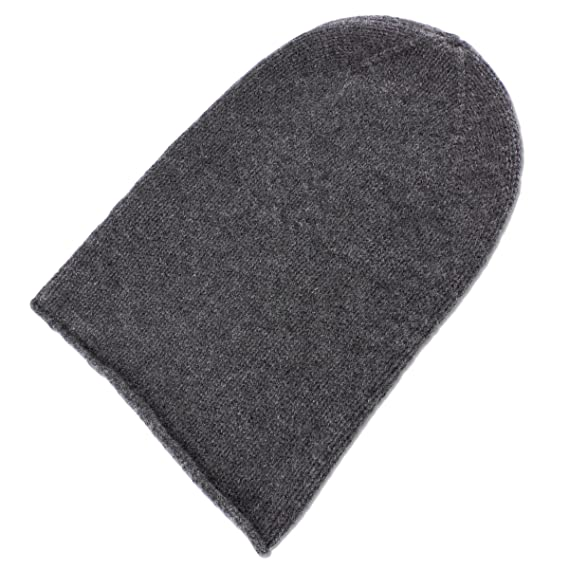 Love Cashmere Mens 100% Cashmere Beanie Hat - Dark Grey - hand made ... 37c2ec81b6c0