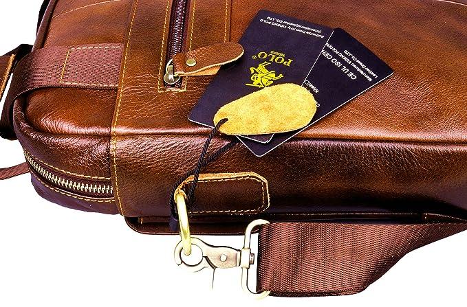 videng Polo® hotest Hombre Piel Auténtica mano maletín bandolera ...
