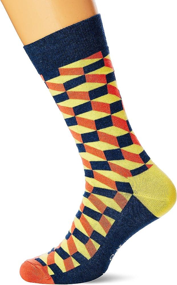 Happy Socks Filled Optic Sock Calcetines, Multicolor (Multicolour 220), 7/10 (Talla del fabricante: 41-46) para Hombre: Amazon.es: Ropa y accesorios