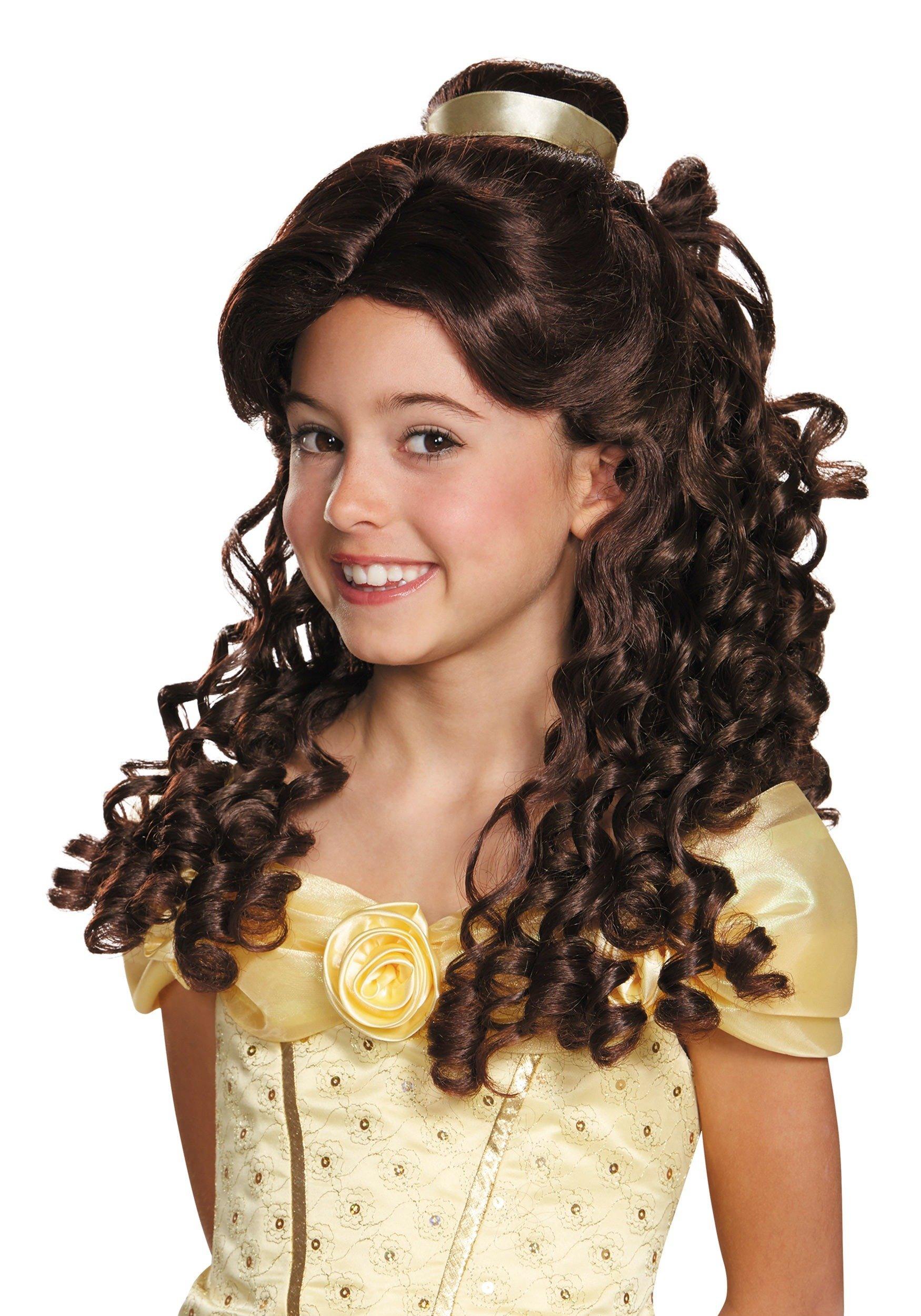 Disney Princess Belle Beauty & the Beast Girls' Prestige Wig by Disguise
