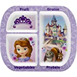 Zak! Designs Healthy by Design 4-Section Plate featuring Sofia The First, Break-resistant and BPA-free Melamine