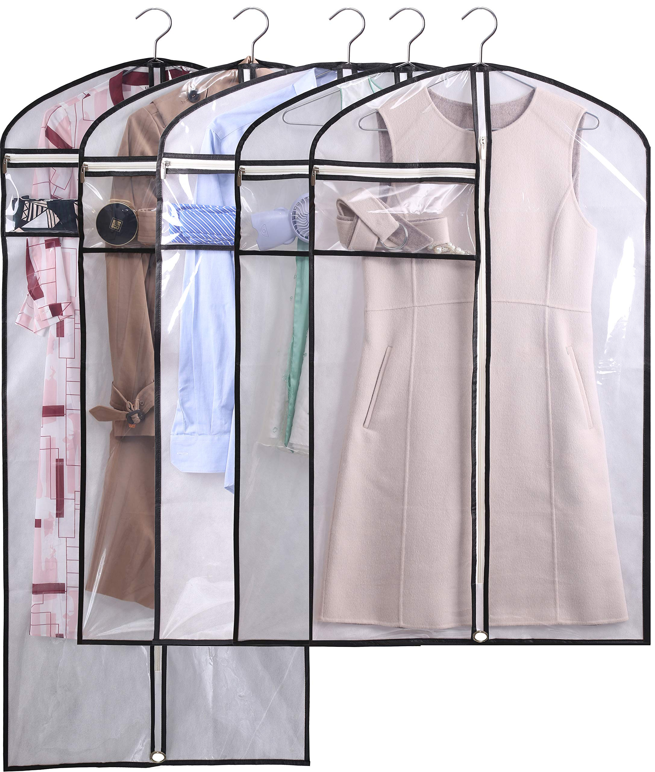 Kimbora Hanging Garment Bags Dance Costume Bags For Closet Competitions Clothes Storage Clear Dust Covers Breathable Light Weight Suit Bags With Accessories Zipper Pocket White 5 Buy Online In Albania At Albania Desertcart Com
