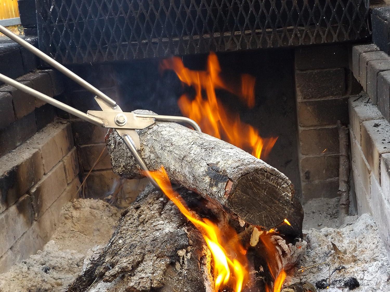 amazon com genuine stainless fireplace tongs 28 1 2