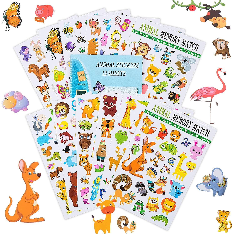 Eureka Wildlife Animals Stickers 36 Stickers Paper Magic Group 650017