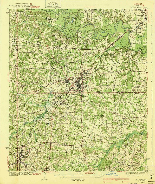 Amazon Com Yellowmaps Kilgore Tx Topo Map 1 62500 Scale 15 X 15