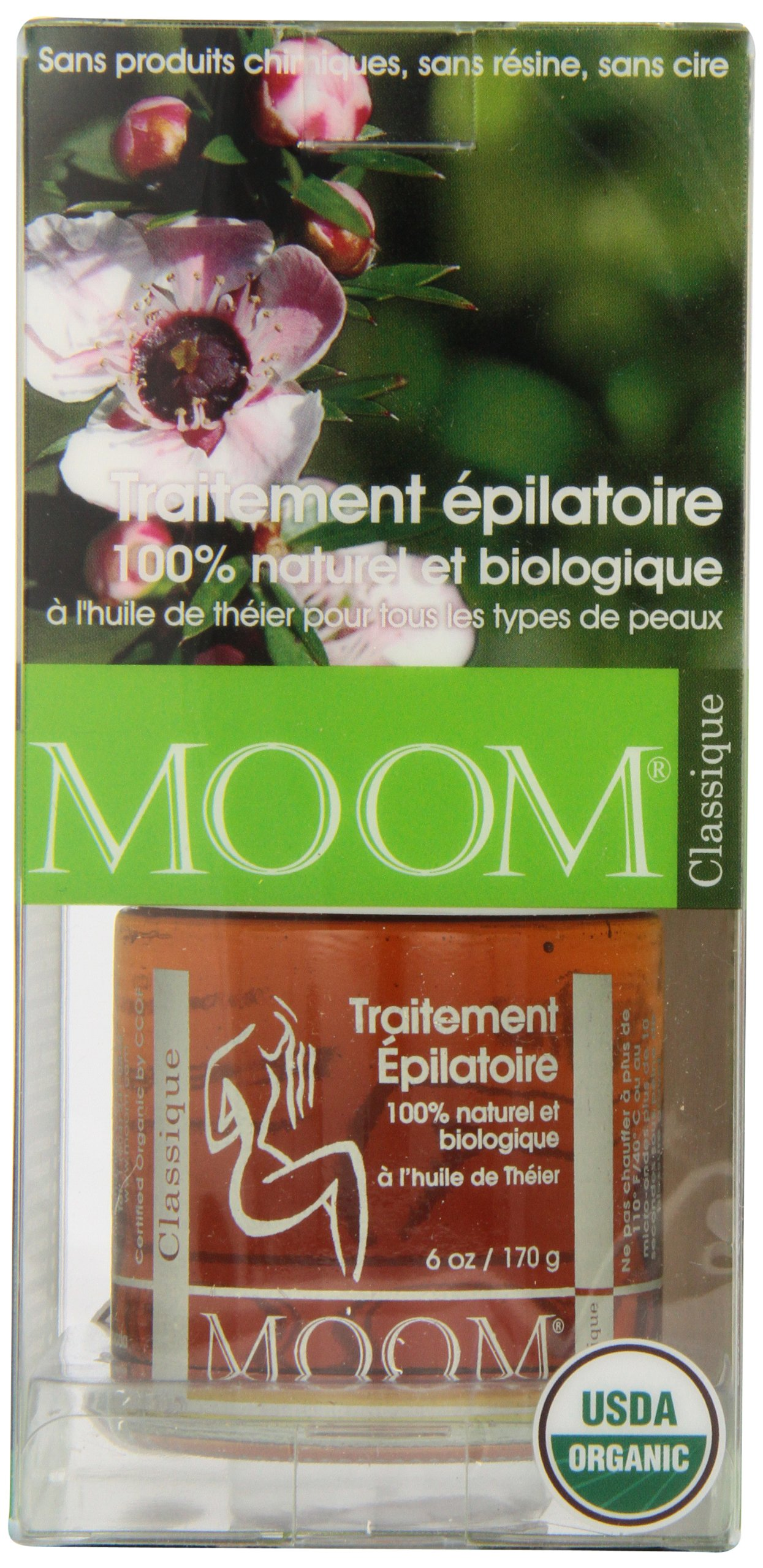 Moom Organic Hair Removal Kit, Tea Tree, 6-Ounce Package by Moom (Image #4)