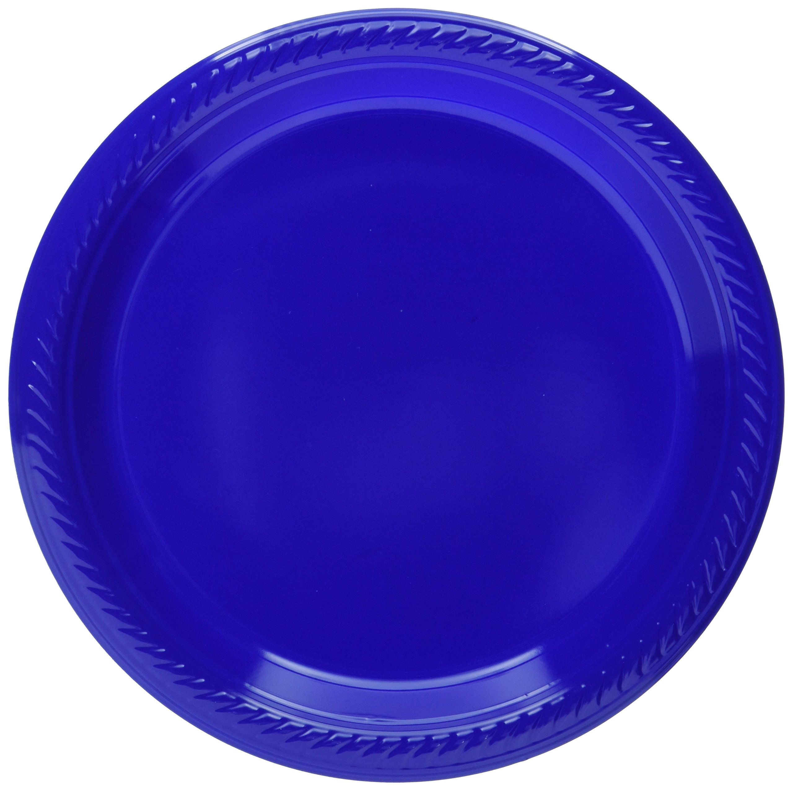 Big Party Pack Bright Royal Blue Plastic Plates | 7'' | Party Supply | 300 ct.
