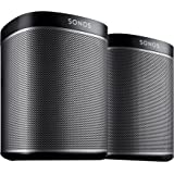 SONOS PLAY:1 Two Room Starter Set - Black