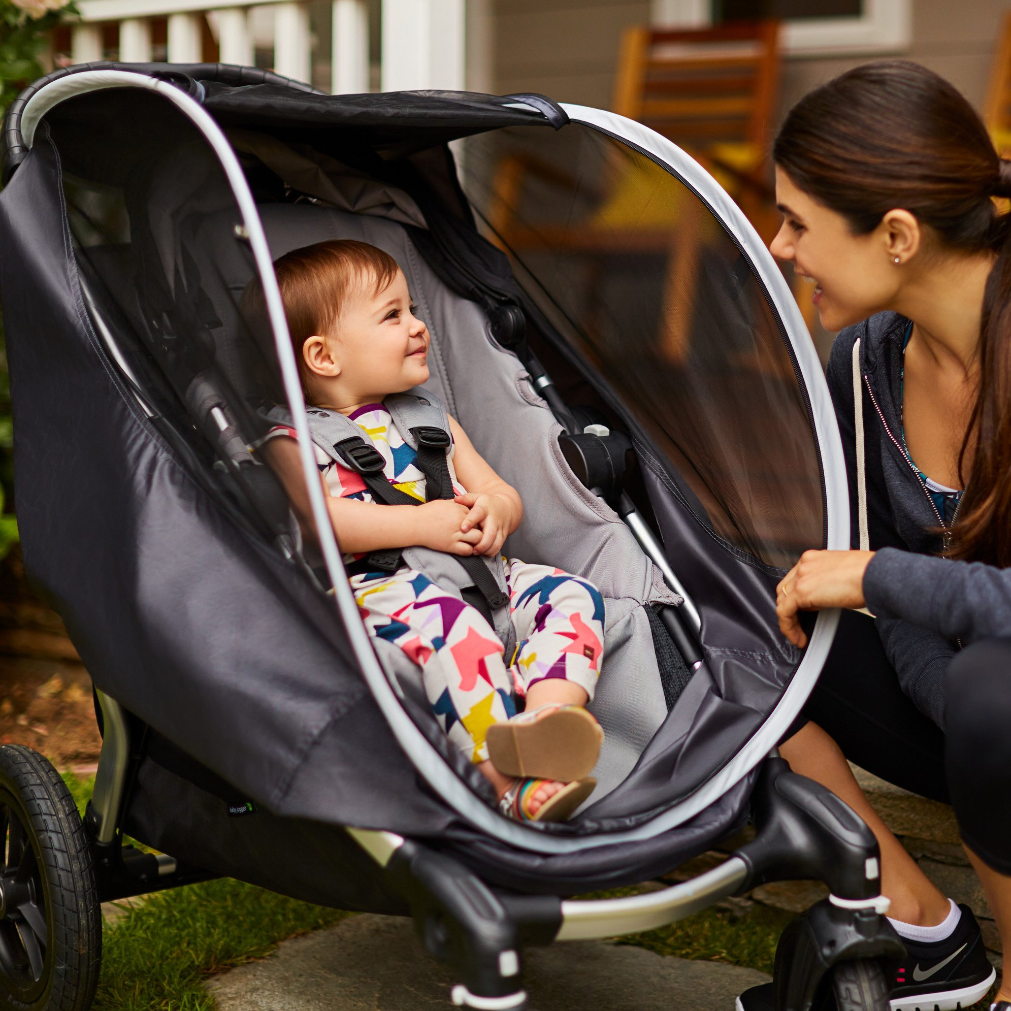 Munchkin Brica Shield Stroller Cover, Helps Block UVA/UVB Rays, Grey by Munchkin (Image #7)