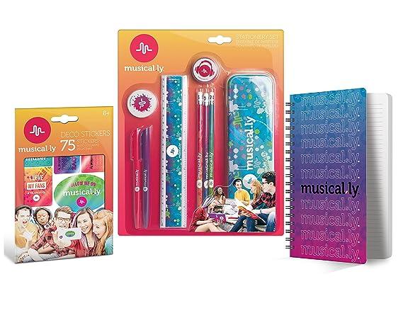 Free Birthday Stationary ~ Amazon.com : musical.ly stationery combo pack u2022 pencils pens
