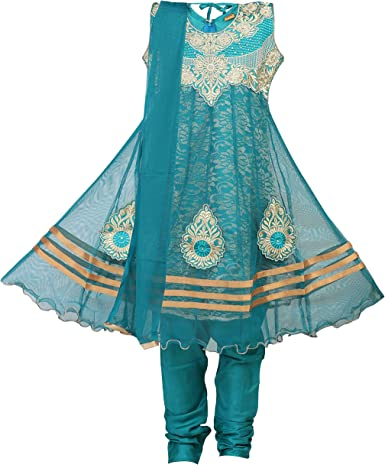 Ashwini Girls' Netted Salwar Suit Girls' Salwar Suit Sets at amazon