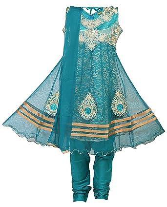 Ashwini Girls' Netted Salwar Suit Girls' Salwar Suit Sets at amazon