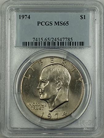 1974 No Mint Mark Eisenhower Dollar PCGS MS-65 at Amazon's
