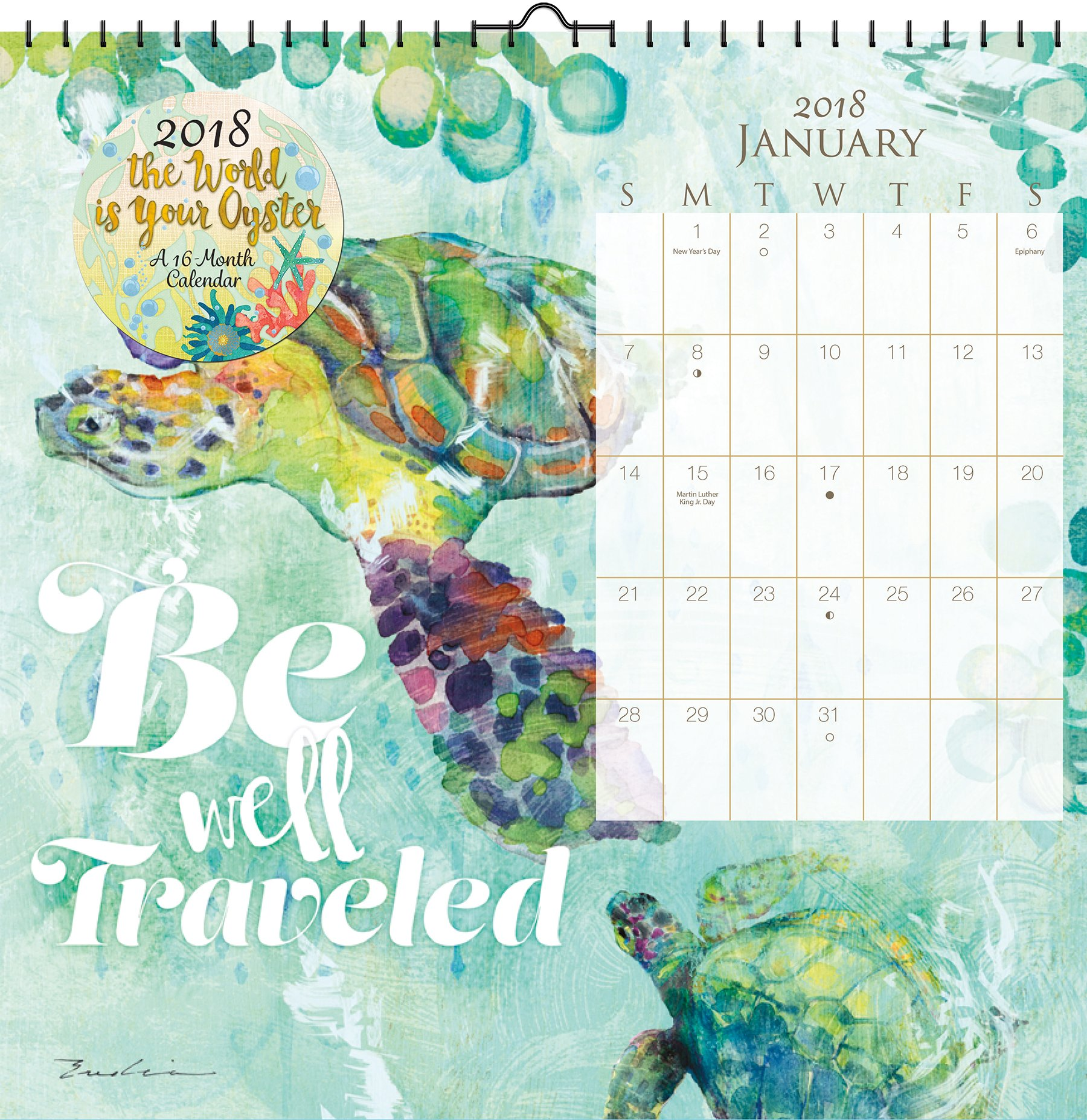the world is your oyster evelia 2018 art calendar