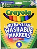 Crayola Washable Wedge Tip Markers, Assorted Colors, Box Of 8