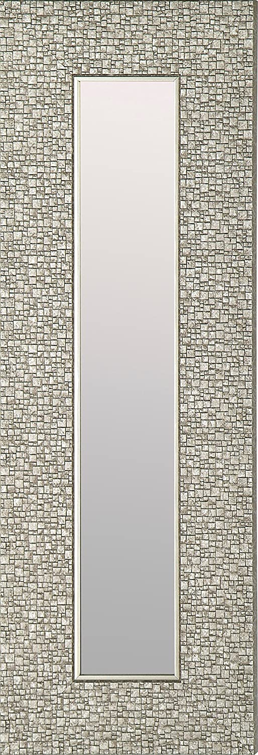 Mirrorize.ca IMM105 Narrow Designer Accent Mirror with Mosaic Silver Frame, 9.25 by 27.75 (Inner Mirror 4 by 22.5), Set of 3 Northwood Collection Inc.