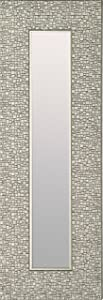 Mirrorize Canada Set of 3 Antique Narrow Mosaic FramedWall Mirror| Vanity,Hallway,Bathroom, Bedroom |9.25X27.75| Silver| Rectangle| Small Accent Mirror