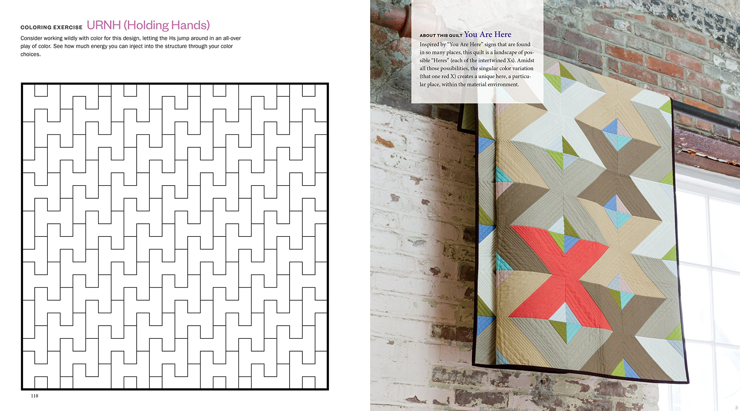 The Quilt Design Coloring Workbook: 91 Modern Art–Inspired Designs and Exercises