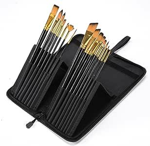 Conda 15 piezas Arte pinceles para acuarela con un cepillo de pintura óleo acrílico soporte: Amazon.es: Hogar