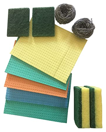 Brite Guard Cellulose Sponge Set Of 11 Pcs