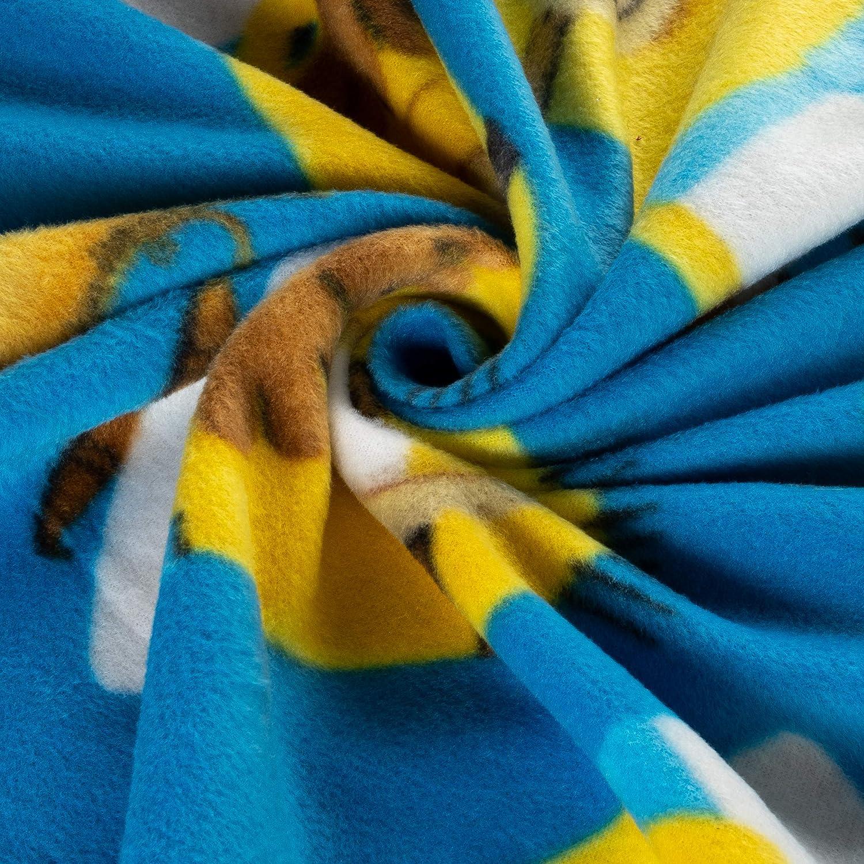 Fabric /& Fabric QT Fabrics Despicable Me Fleece Egyptian Minions Blue