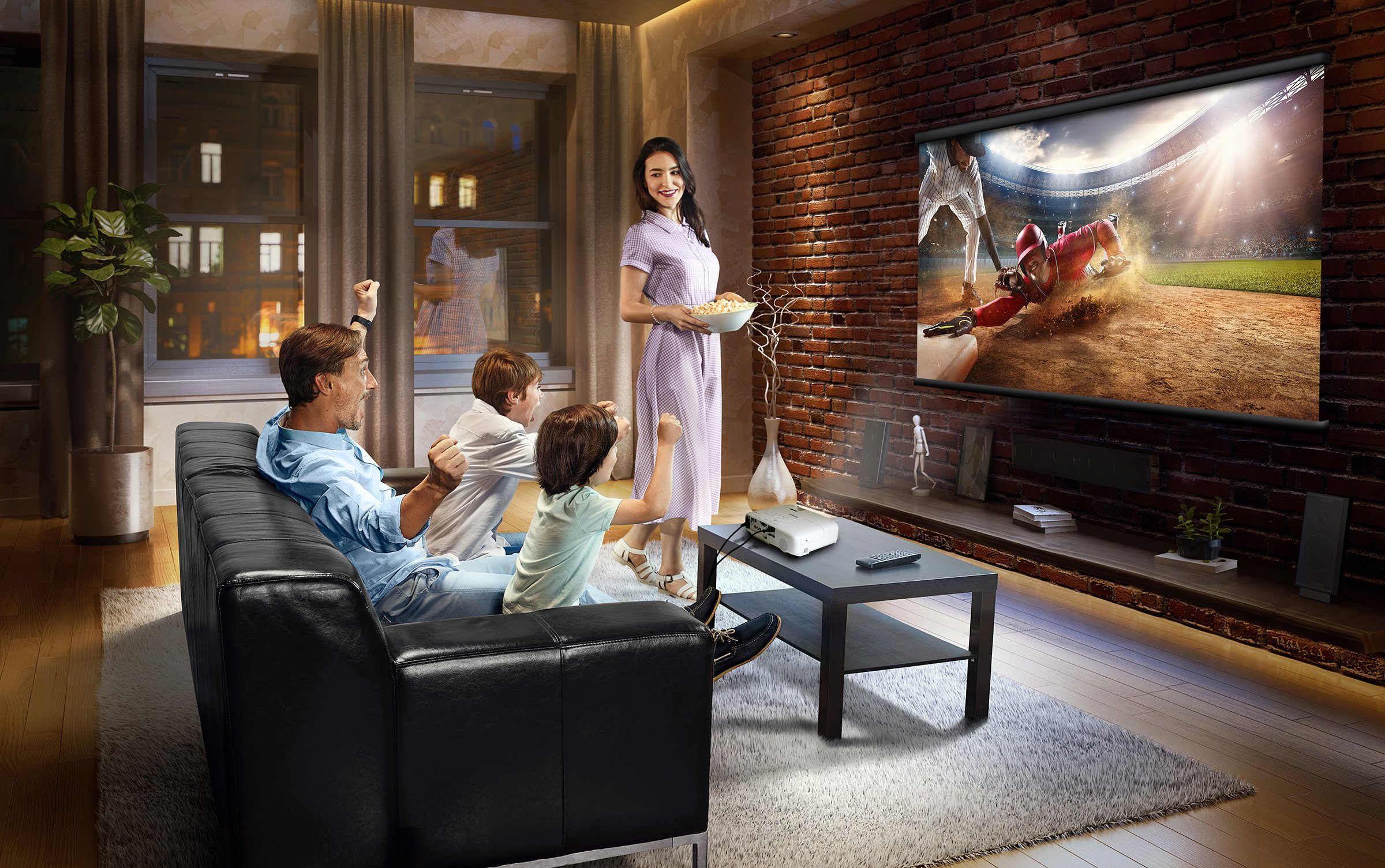 Epson Home Cinema 1060 Full HD 1080p 3,100 lumens color brightness (color light output) 3,100 lumens white brightness (white light output) 2x HDMI (1x MHL) built-in speakers 3LCD projector by Epson (Image #7)