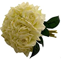 Fourwalls Artificial Polyester and Plastic Rose Bouquet (13 cm x 10 cm x 26 cm, Light/Pink)