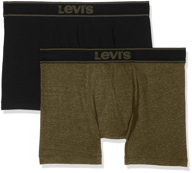 TALLA S. Levi's Levis 200sf Vintage Heather Boxer Brief 2p Pantalones (Pack de 2 para Hombre