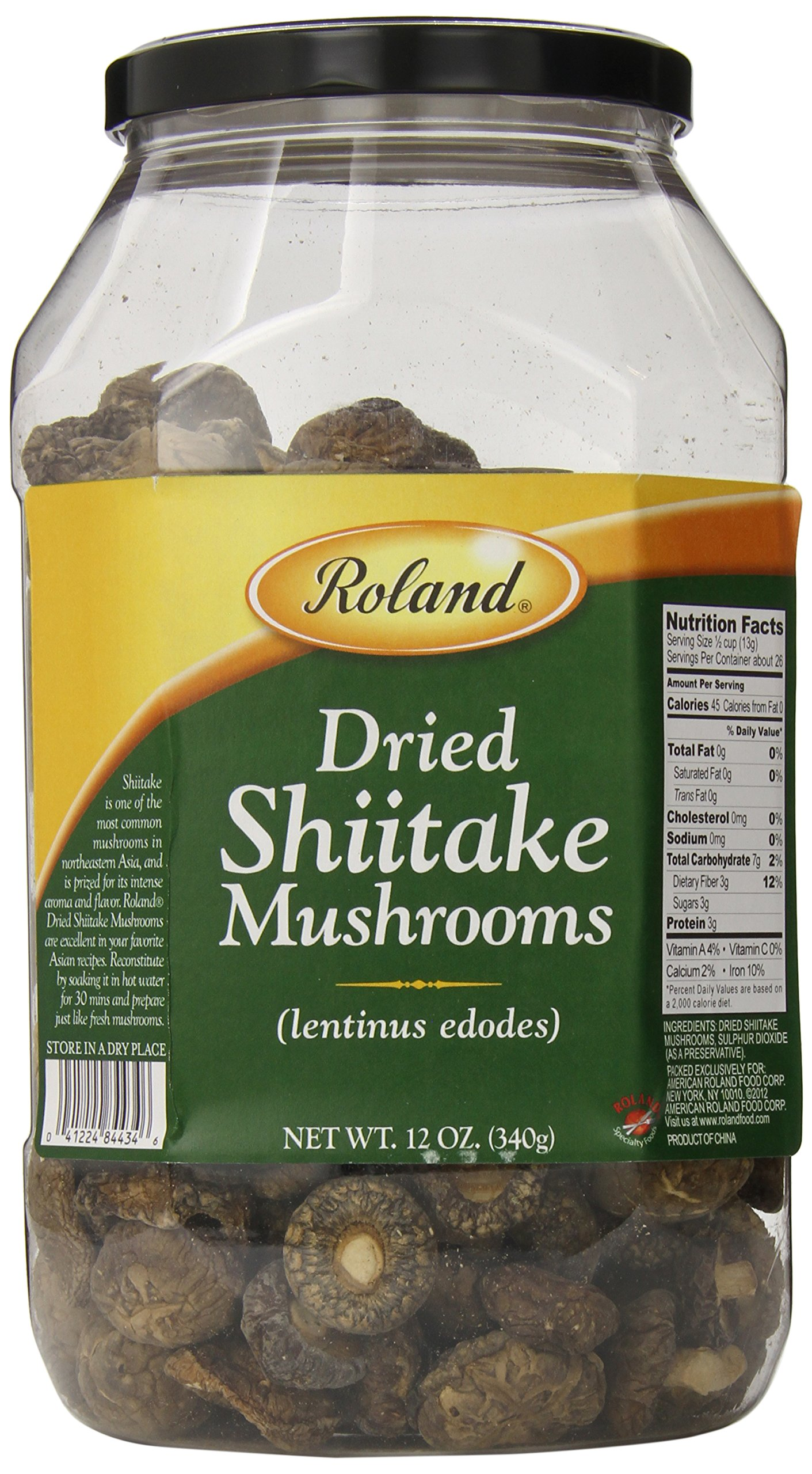 Roland Dried Mushrooms, Shiitake, 12 Ounce by Roland
