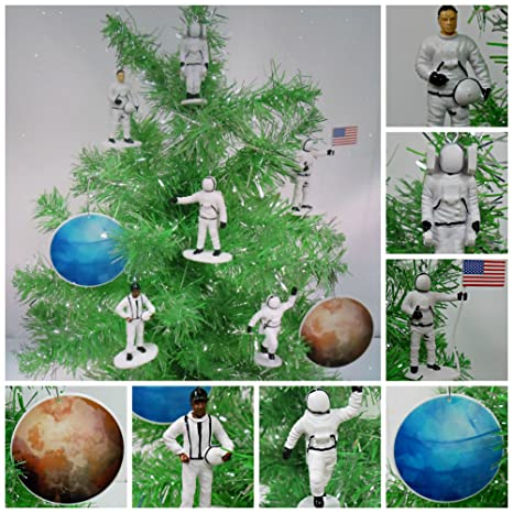 NASA Themed ASTRONAUT Space Set of 8 Christmas Tree Ornaments - Unique  Shatterproof Plastic Ornaments Ranging - Amazon.com: NASA Themed ASTRONAUT Space Set Of 8 Christmas Tree