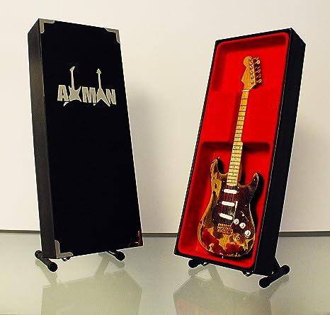Miniatura Guitarra Replica: Jimi Hendrix Burnt Stratocaster ...
