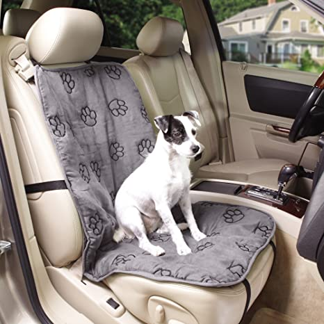 Guardian Gear Pawprint Single Car Seat Covers Polyester For Dogs Charcoal
