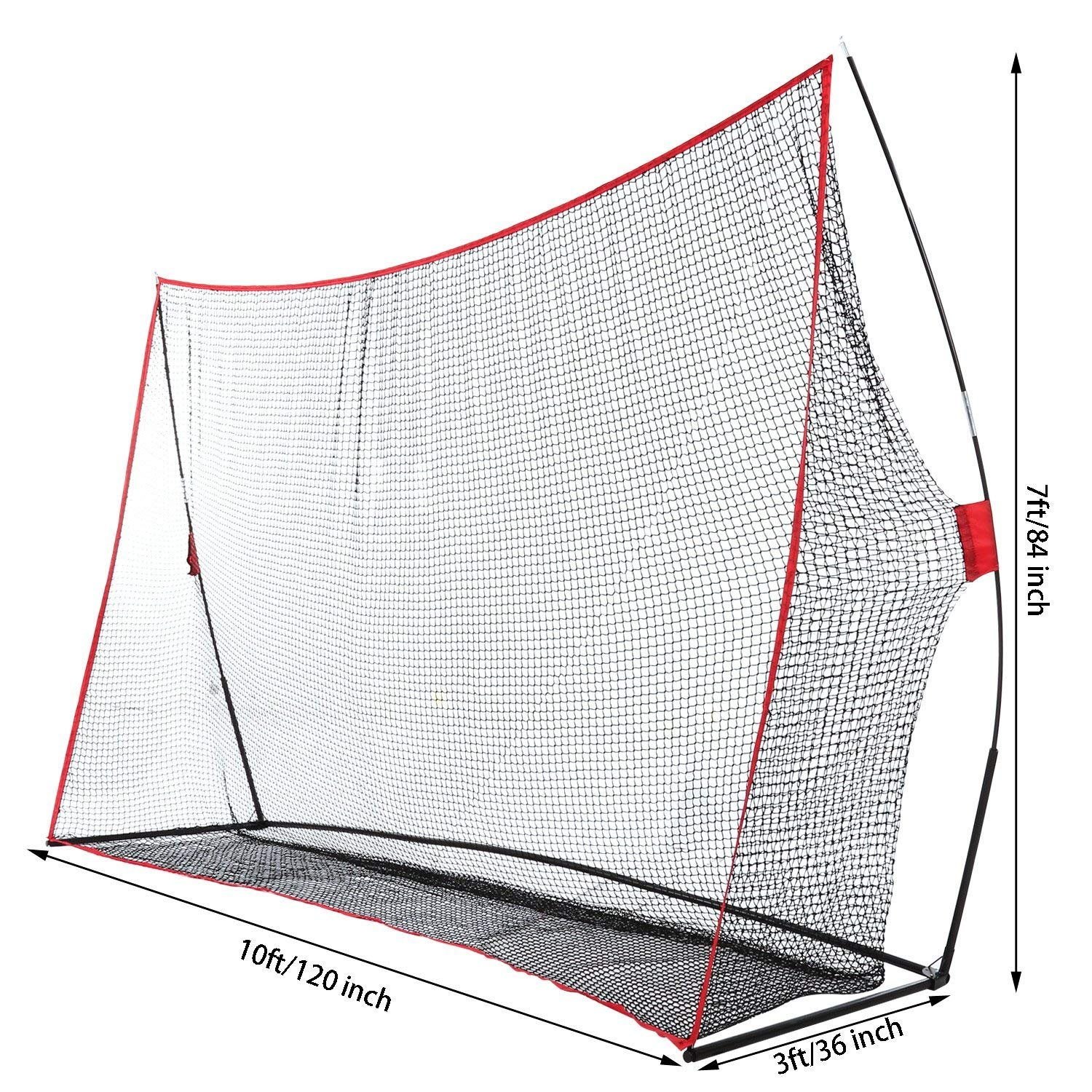 Fashine 10 x 7ft Golf/Baseball/ Soccer/Lacrosse Training Pitching Hitting Net Practice Driving Indoor and Outdoor with Bow Frame and Carrying Bag (US Stock) by Fashine (Image #3)