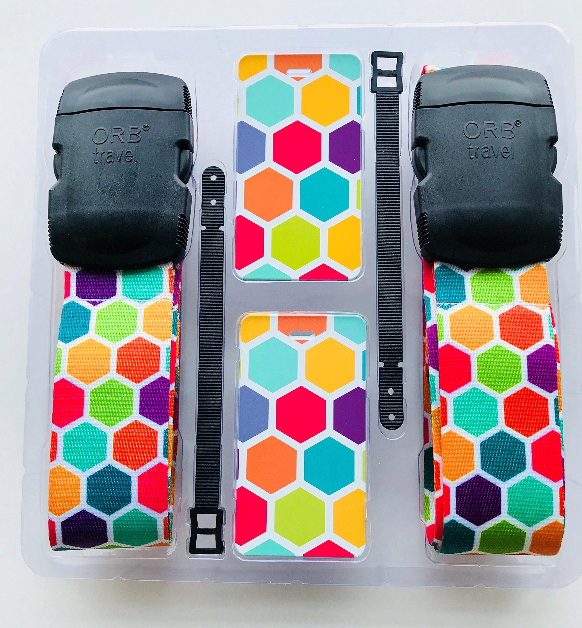 ORB - Travel Essentials Kit Luggage Strap Heavy Duty Buckle - (TE204-Multi-Colour)