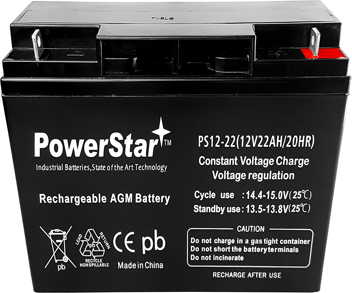 12V 22AH 6FM22 6-FM-22 Sealed Lead Acid Rechargeable Deep Cycle Battery