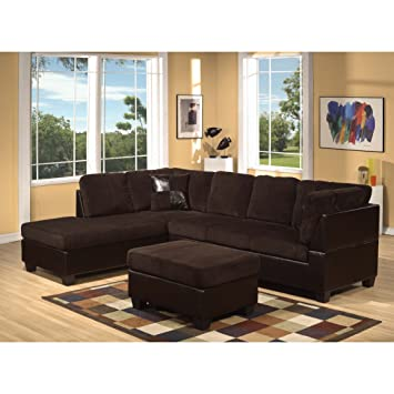 Amazon.com: ACME 55975 Connell Sectional Sofa with Pillows ...
