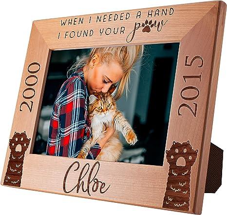 Pet memorial Plaque Photo Board 5x7 Personalized Pet Portrait Gifts