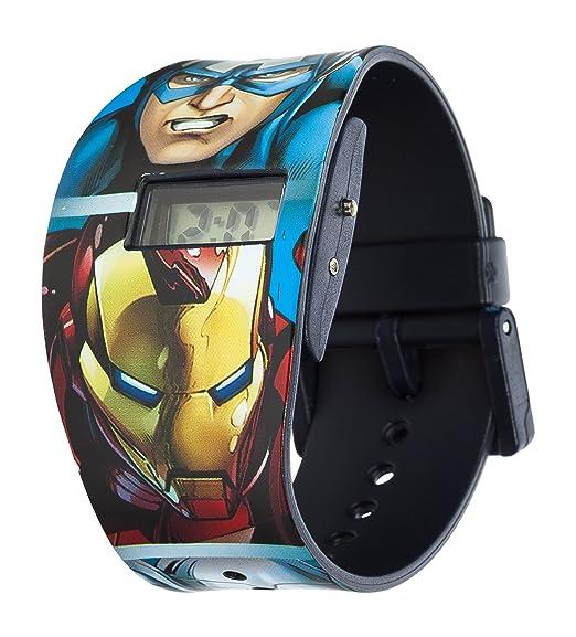 Marvel Reloj Digital para Nios de Cuarzo con Correa en plástico MAR68: Amazon.es: Relojes