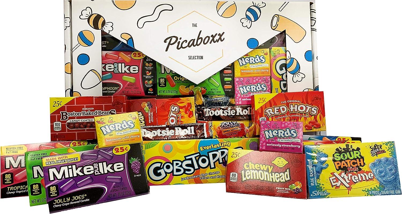 Caja de regalo Picaboxx American Candy Selection - 14 productos Value Pack   American Candy Hamper   Caja de regalo dulce con ventana de visualización: Amazon.es: Alimentación y bebidas