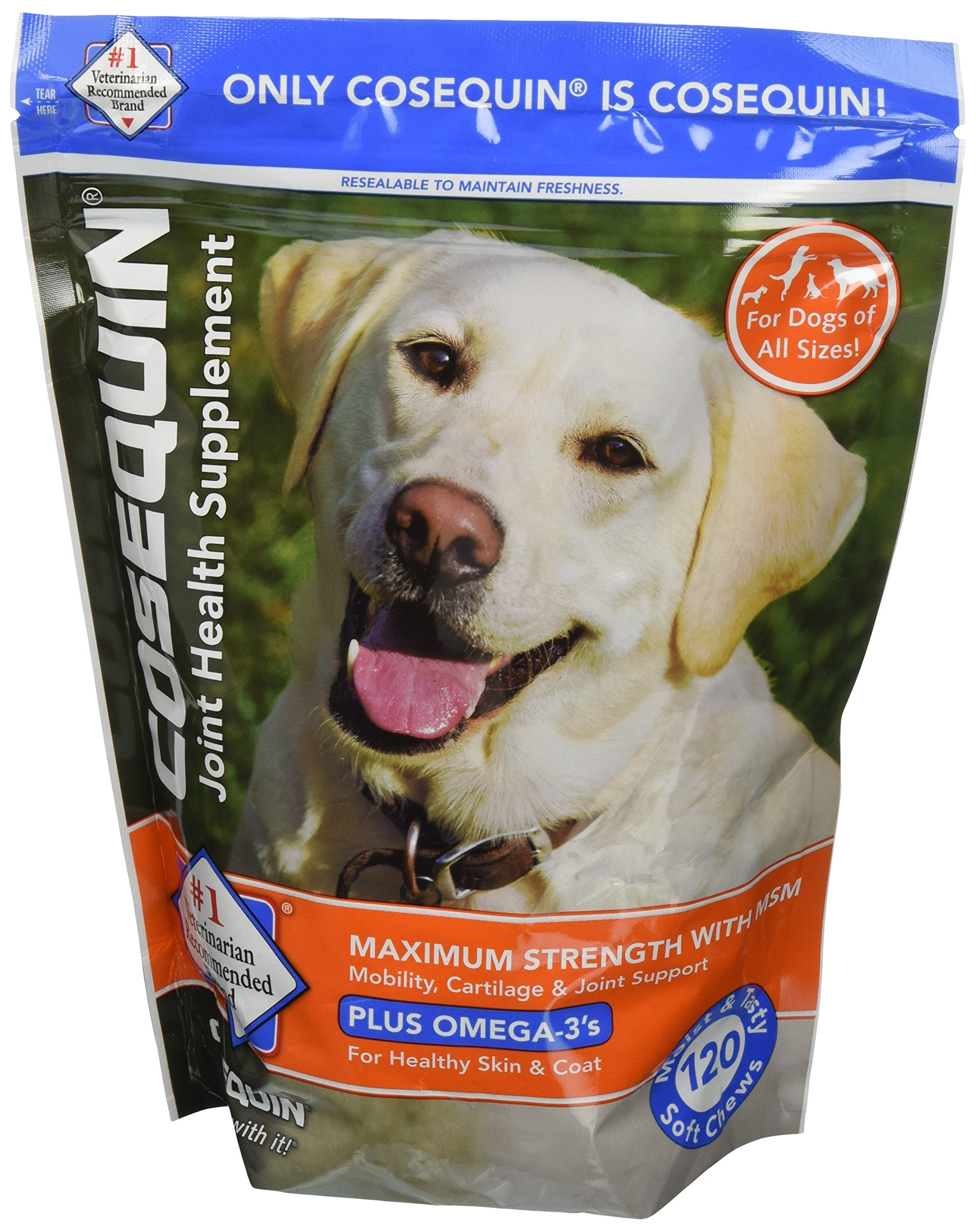 Cosequin Soft Chews Maximum Strength with MSM Plus Omega 3 120 count