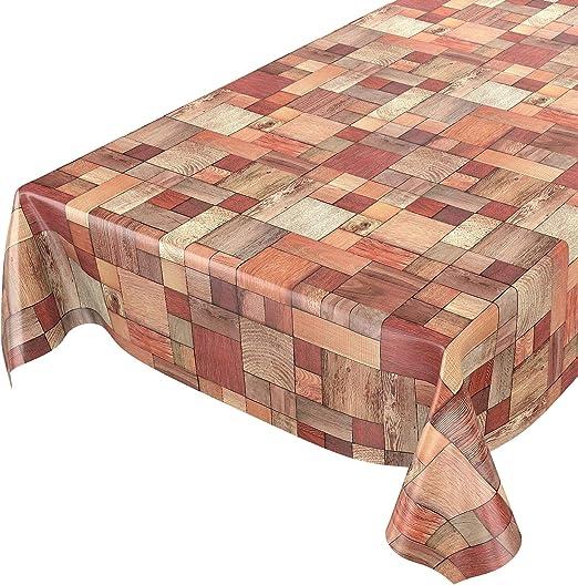 ANRO Mantel de Hule para Mesa (Lavable, diseño de Madera, 100 x ...