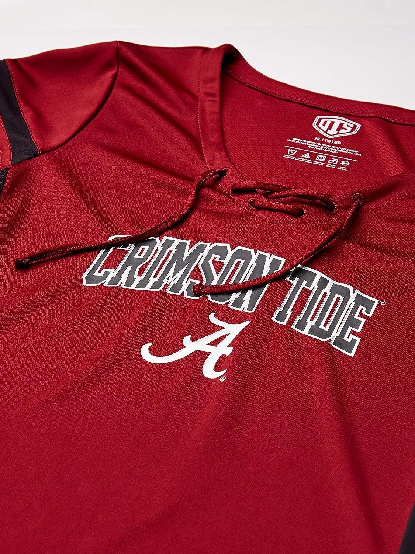 NCAA Womens OTS Poly Lace Up V-Neck Tee