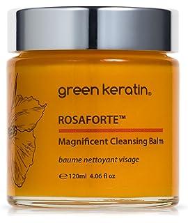 Green Keratin ROSAFORTE Magnífico Bálsamo Limpiador || Rosa, Rosa mosqueta y Vitamina E |