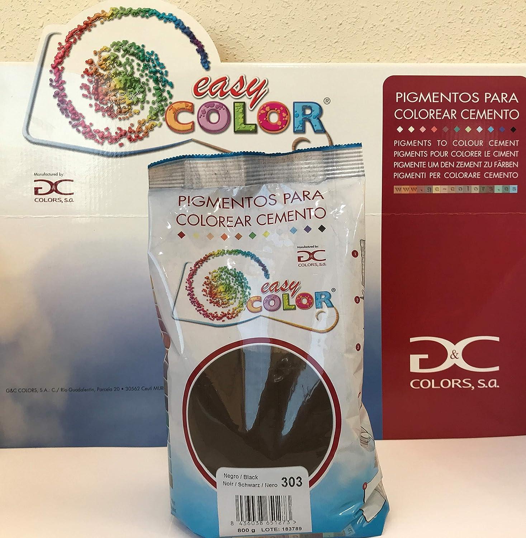 Easy Color pigmento Negro 303 para cemento, mortero y hormigón (Óxido de Hierro) (Negro 303)
